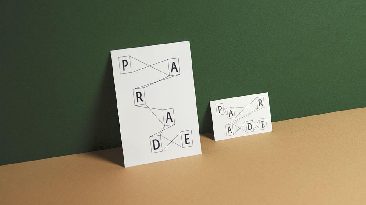 Design du flyer et de la carte de visite de l'agence Parade