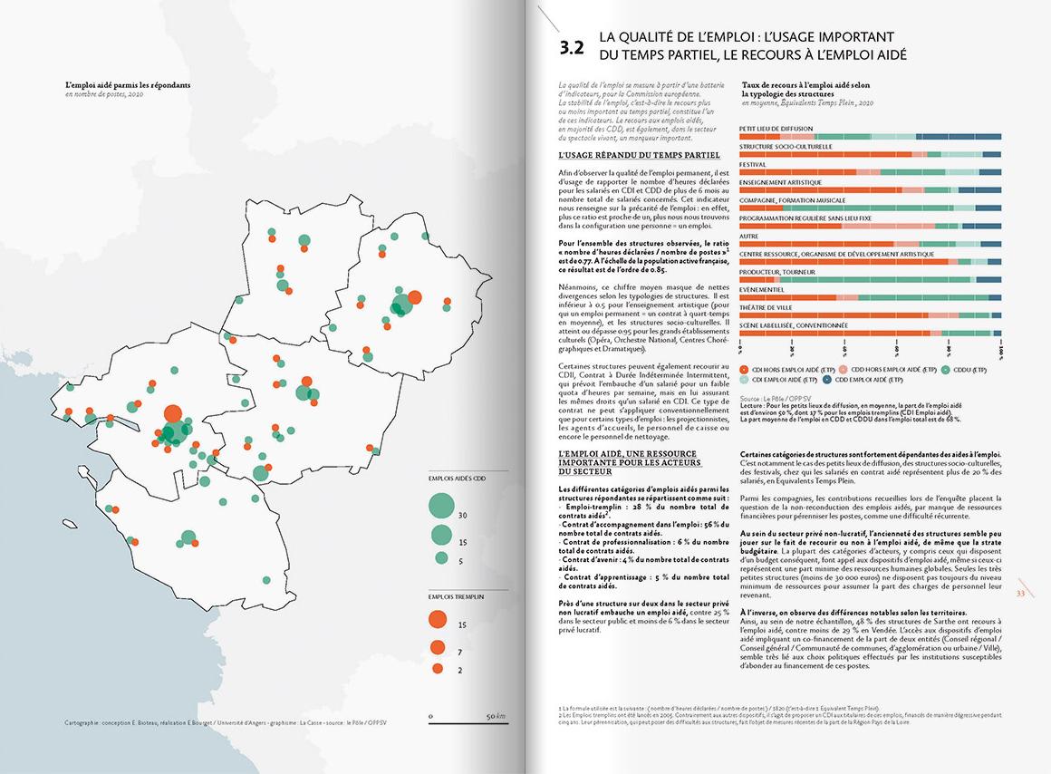 Intérieur de l'étude pour la région Pays de la Loire