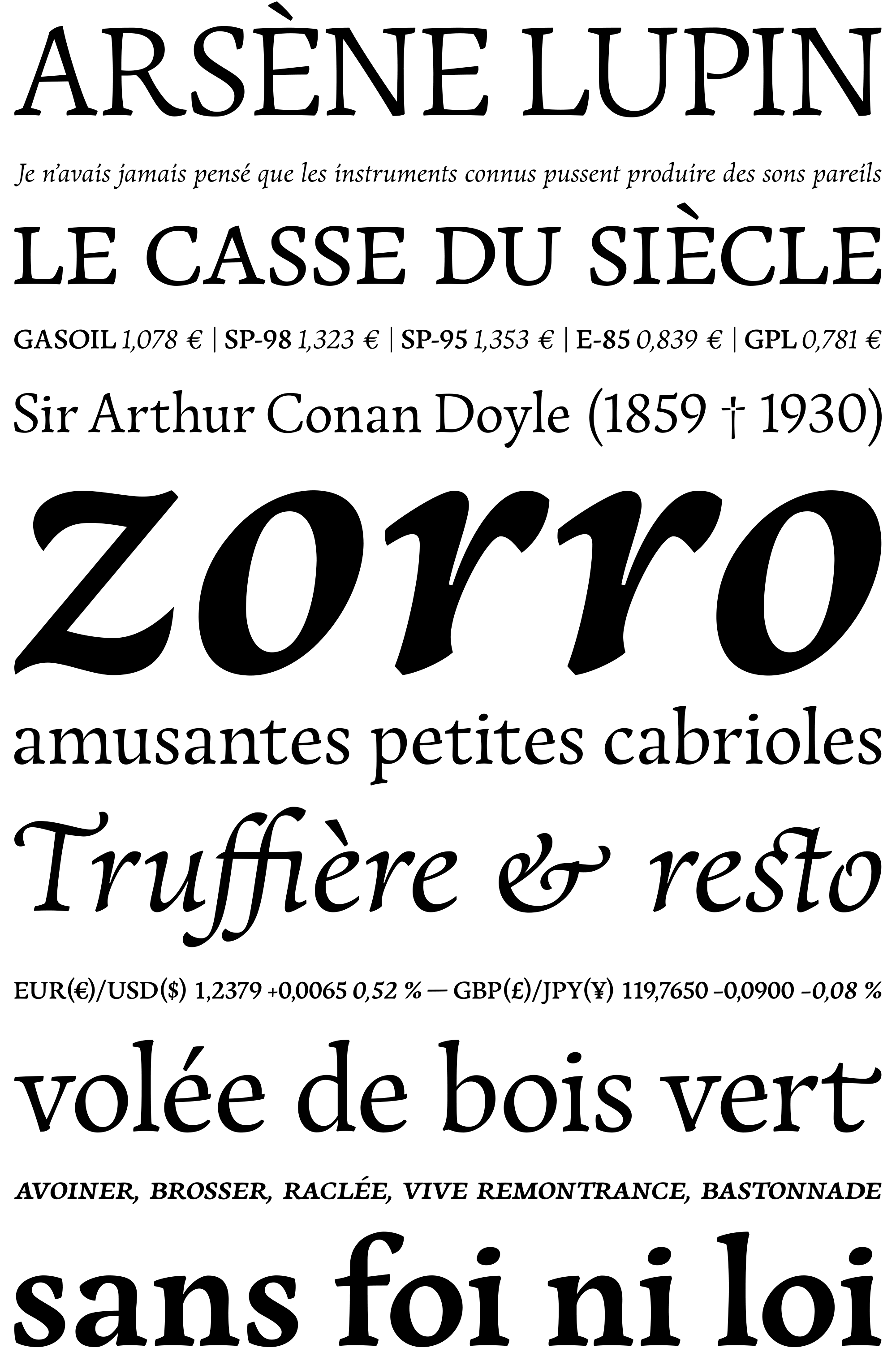 Présentation typographique