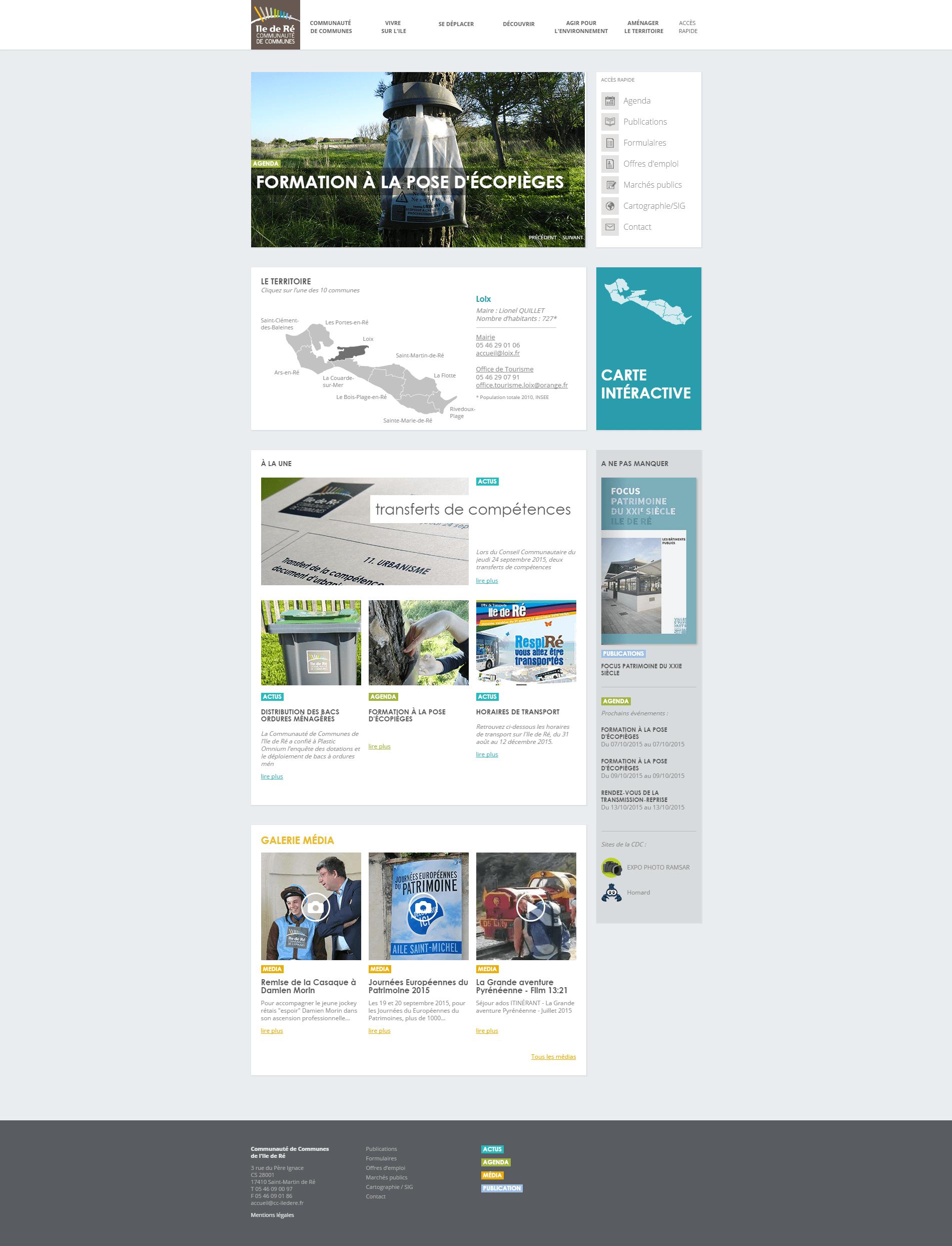 Page d'accueil du site cdcildr.fr