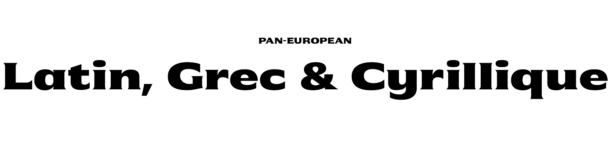 Pan European font