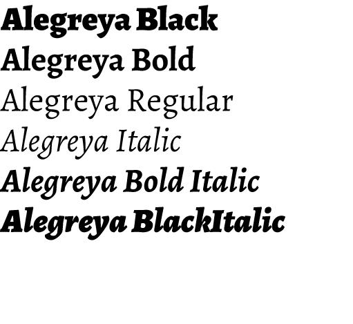 Alegreya - Huerta Tipográfica