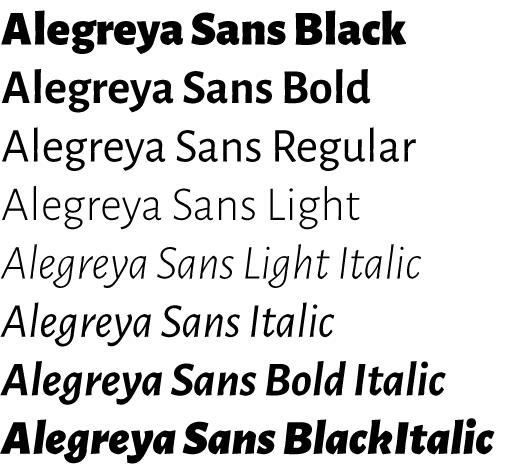 Alegreya Sans - Huerta Tipográfica