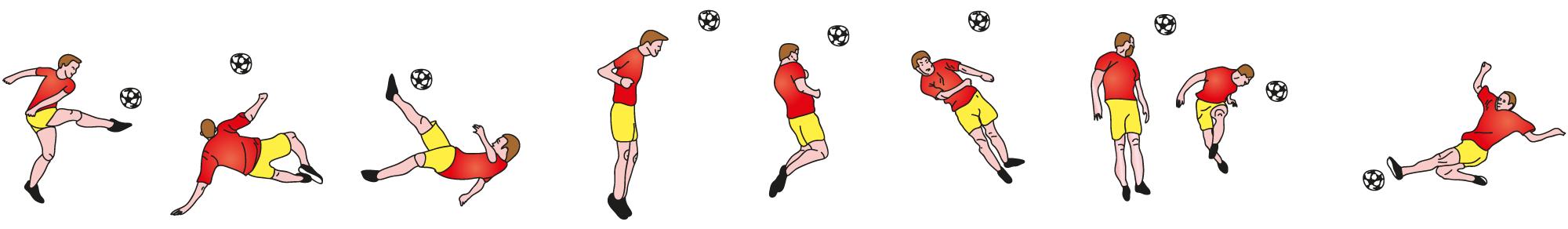 Illustration d'une équipe de joueurs de foot