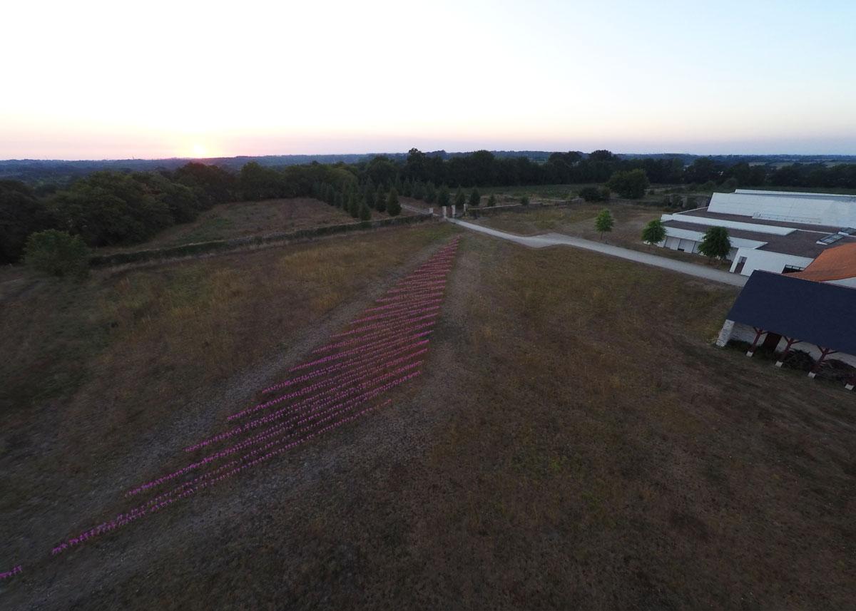 Vue de la Simumation depuis un drone