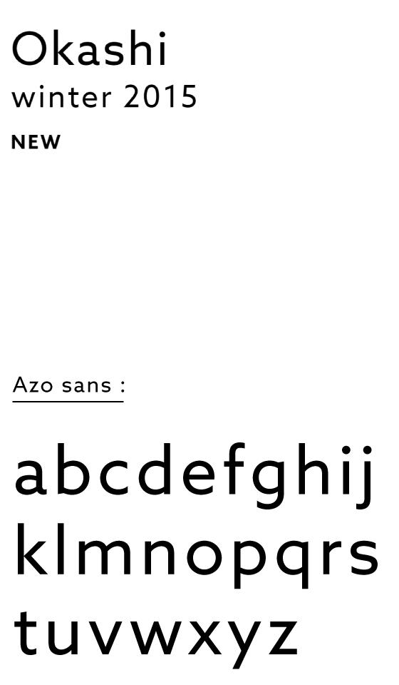 Présentation du caratère typographique Azo Sans de Rui Abreu