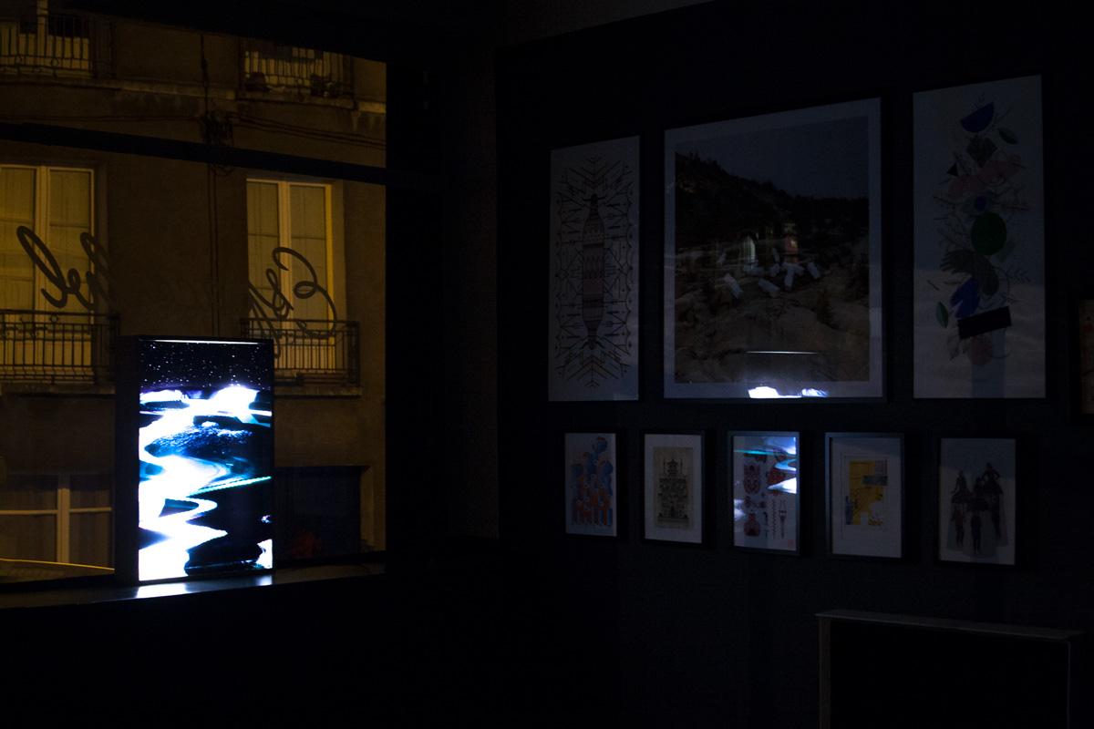 Photo nocturne de la galerie LVL