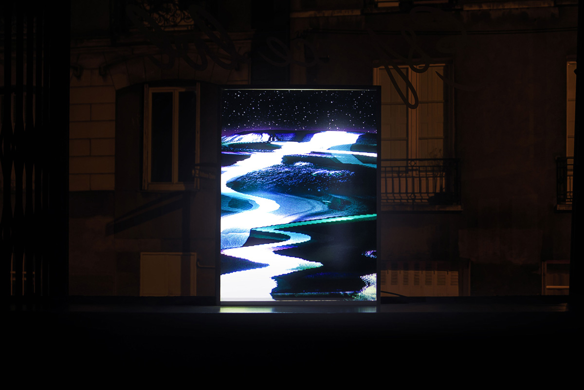 Affiche lumineuse de l'espace !