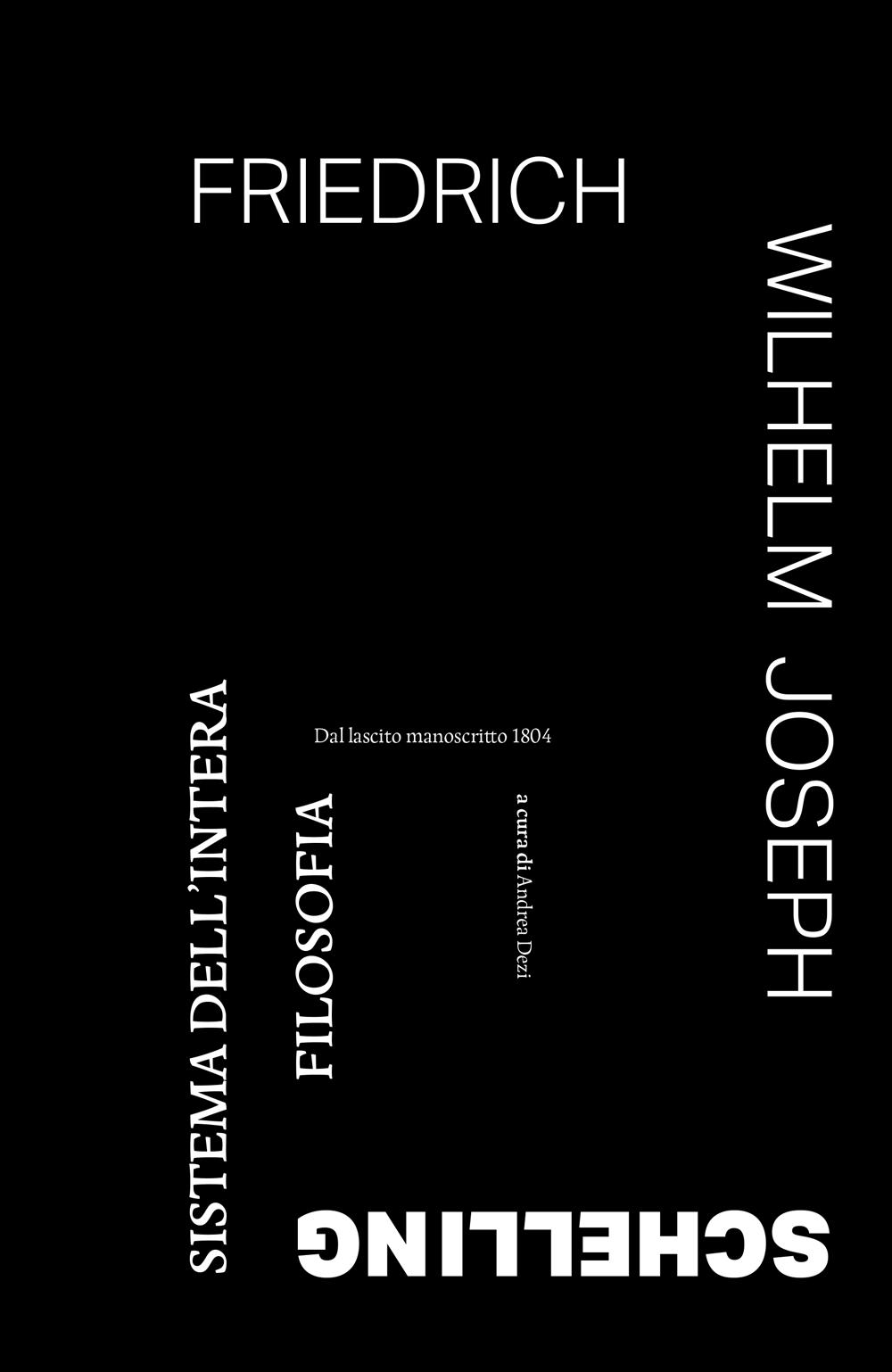 Mise en page du livre System der gesammten Philosophie écrit par F.W.J. Schelling