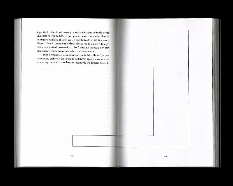 Page intérieur du Scritti sullo spazio, p170 - 171