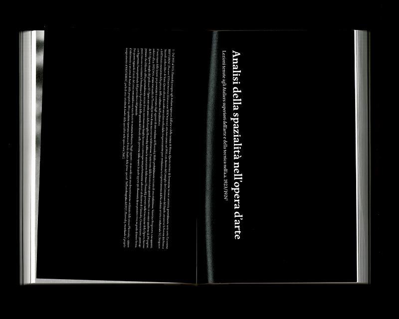 Page intérieur du Scritti sullo spazio, p174 - 175