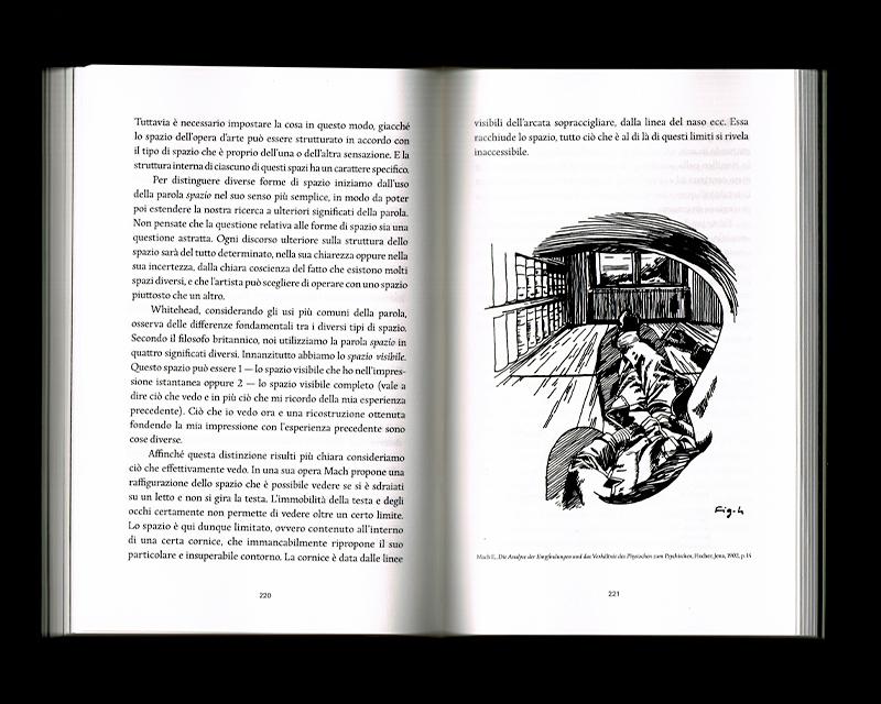 Page intérieur du Scritti sullo spazio, p220 - 221