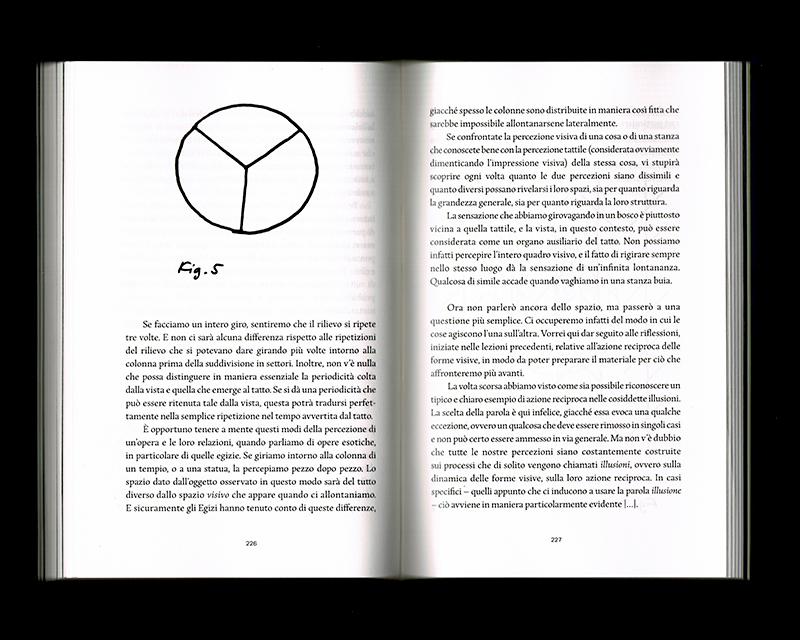 Page intérieur du Scritti sullo spazio, p226 - 227