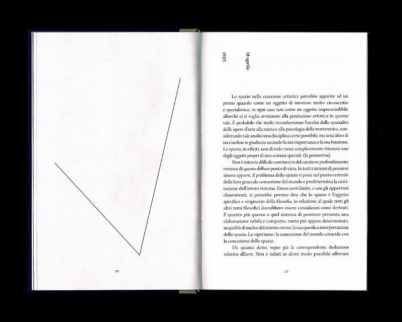 Page intérieur du Scritti sullo spazio, p26 - 27