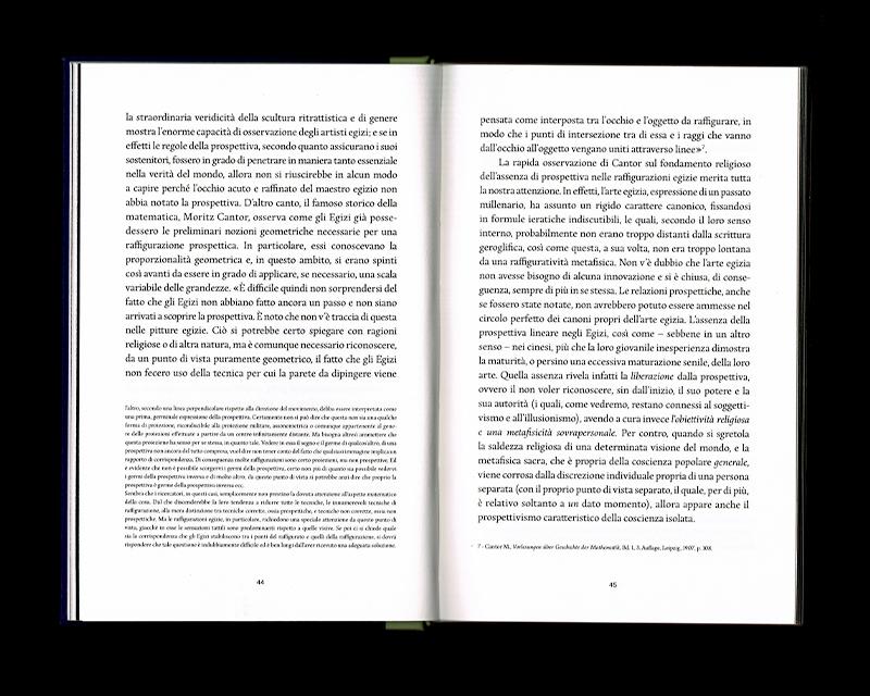 Page intérieur du Scritti sullo spazio, p44 - 45