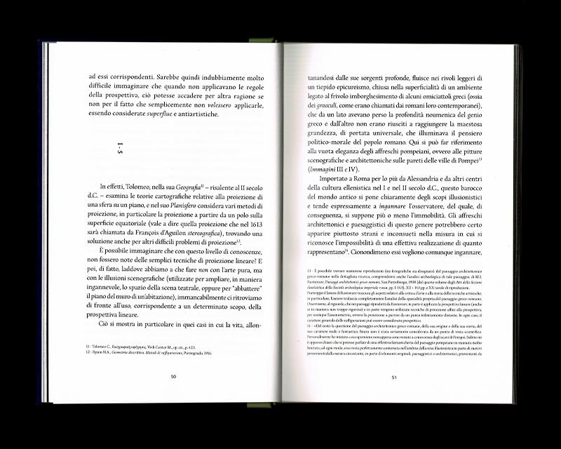 Page intérieur du Scritti sullo spazio, p50 - 51