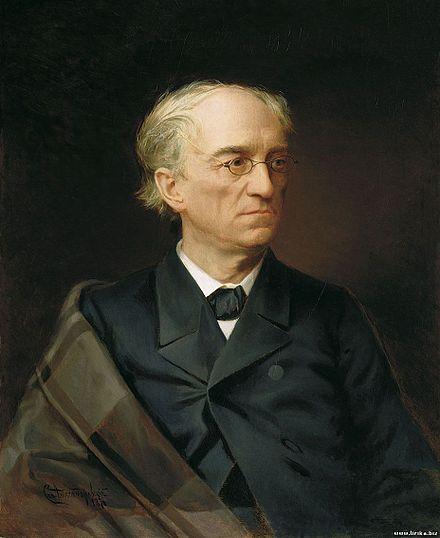 Portrait de Fyodor Tyutchev par Stepan Alexandrovsky (1876)