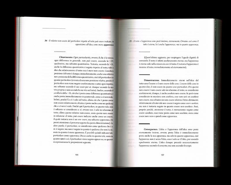 Scan des pages 106 & 107 du livre Sistema dell'intera filosofia, F.W.J. Schelling, 1804