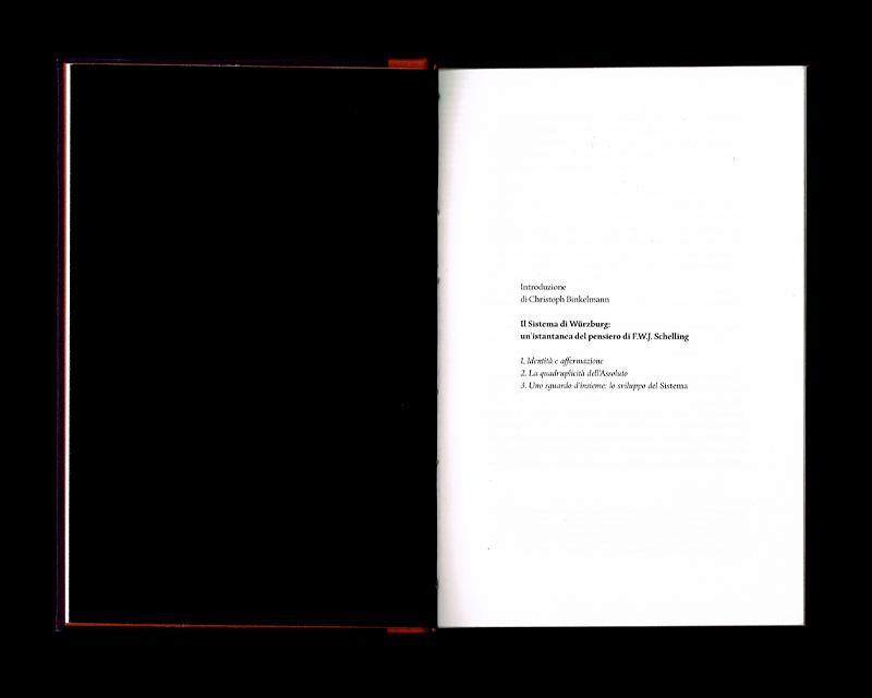 Scan des pages 12 & 13 du livre Sistema dell'intera filosofia, F.W.J. Schelling, 1804