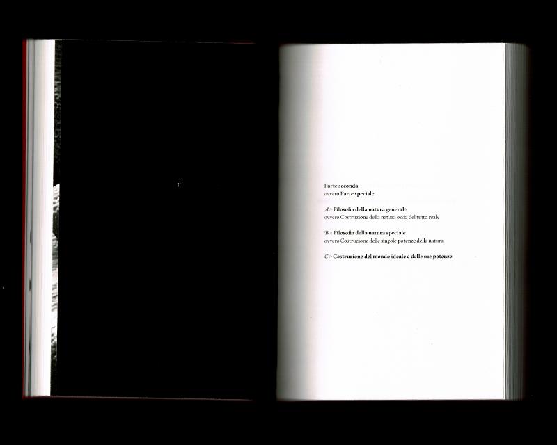 Scan des pages 144 & 145 du livre Sistema dell'intera filosofia, F.W.J. Schelling, 1804