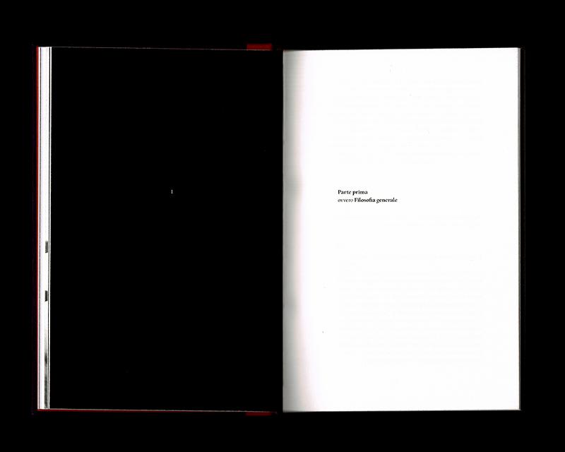 Scan des pages 40 & 41 du livre Sistema dell'intera filosofia, F.W.J. Schelling, 1804