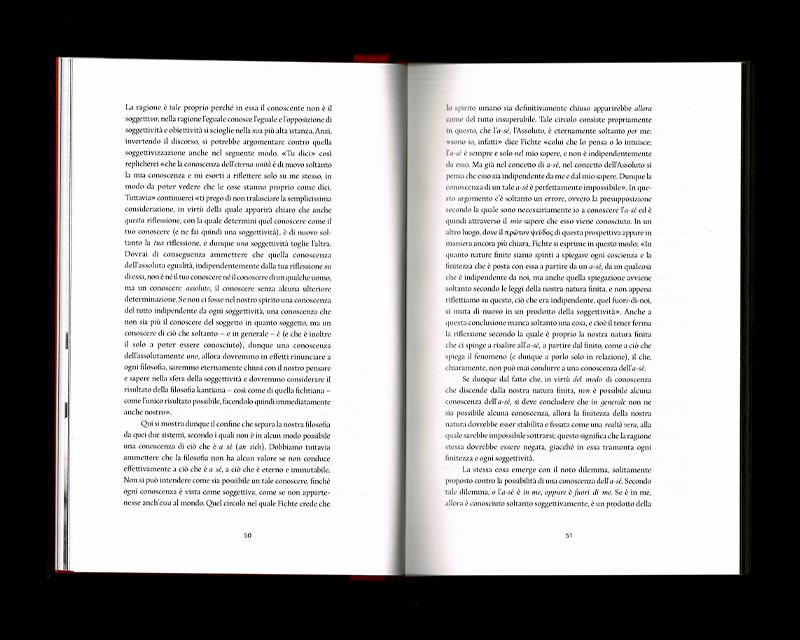 Scan des pages 50 & 51 du livre Sistema dell'intera filosofia, F.W.J. Schelling, 1804