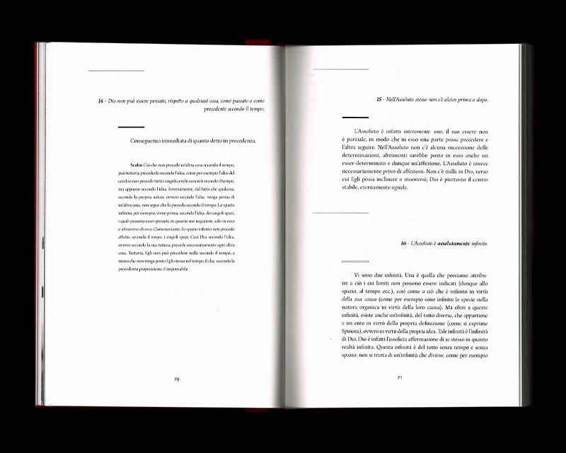 Scan des pages 70 & 71 du livre Sistema dell'intera filosofia, F.W.J. Schelling, 1804