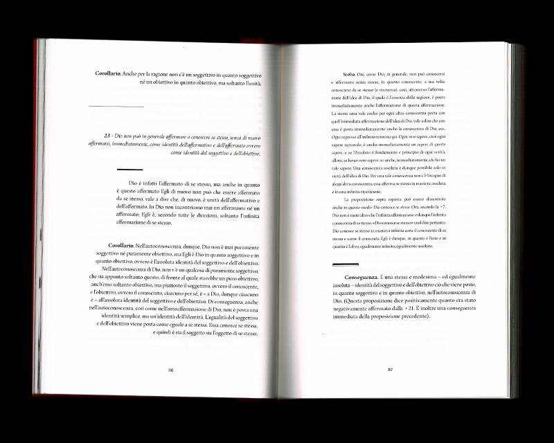 Page intérieur du Sistema dell'intera filosofia, p86 - 87