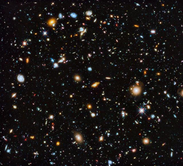 Images du ciel prise par le télescope Hubble
