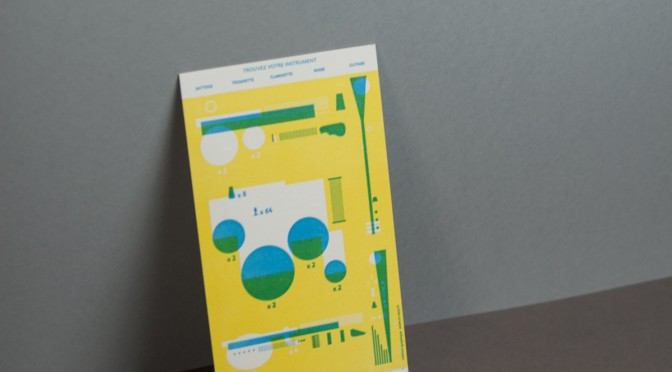 Carte de voeux en letterpress