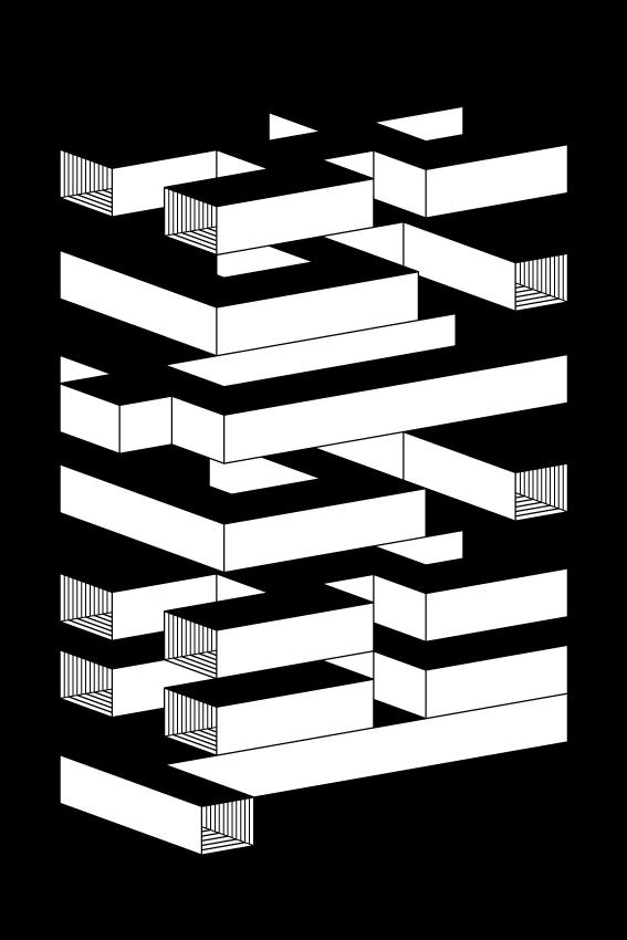 Affiche Frabriqu'On - Trempolino, noir et blanc
