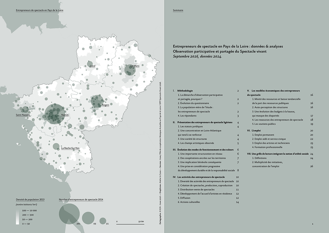 Carte des Pays de la Loire pour l'édition de l'OPPSV