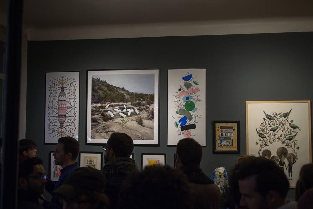 Photo du vernissage de l'exposition des 5 ans du LVL