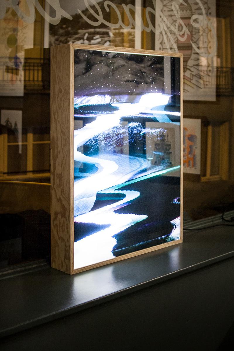 Caisson lumineux réalisé par le collectif Fischtre
