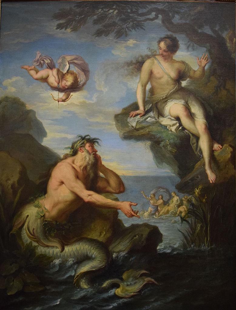 Peinture Glaucus et Scylla, Jacques Dumont Romain, Huile sur toile exposée au musée des beaux-arts de Troyes.