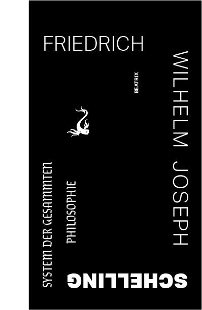 Schema de mise en page de la couverture de System Der Gesammten Philosophie, Friedrich Wiljelm Joseph Schelling