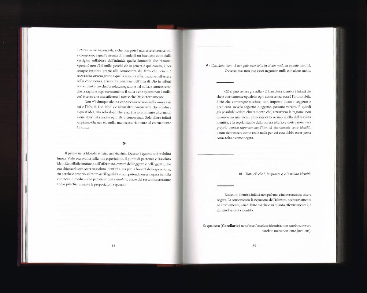 Page intérieur du Sistema dell'intera filosofia, p64-65