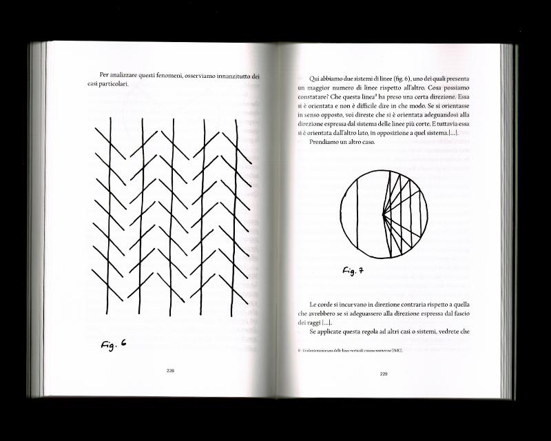 Page intérieur du Scritti sullo spazio, p226 - 229