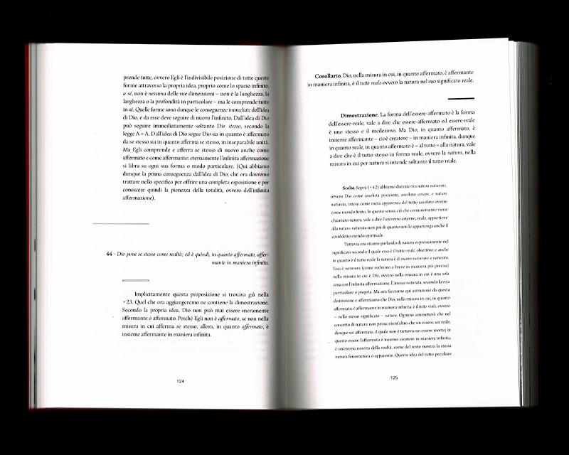 Scan des pages 124 & 125 du livre Sistema dell'intera filosofia, F.W.J. Schelling, 1804