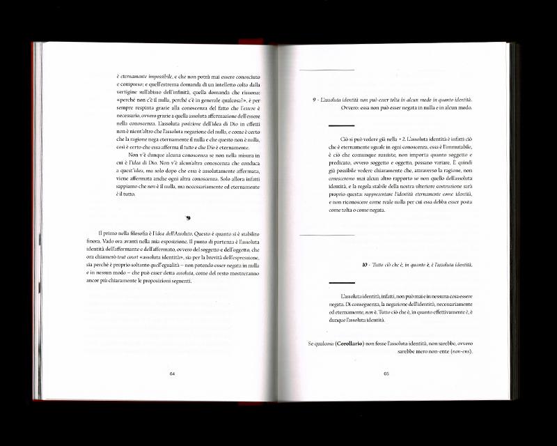 Scan des pages 64 & 65 du livre Sistema dell'intera filosofia, F.W.J. Schelling, 1804