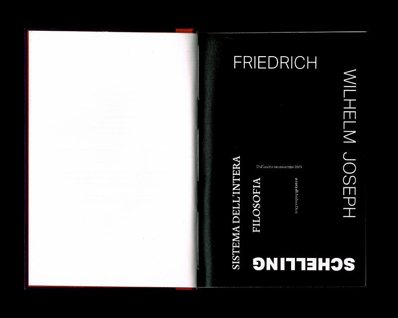 Scan des pages 8 & 9 du livre Sistema dell'intera filosofia, F.W.J. Schelling, 1804