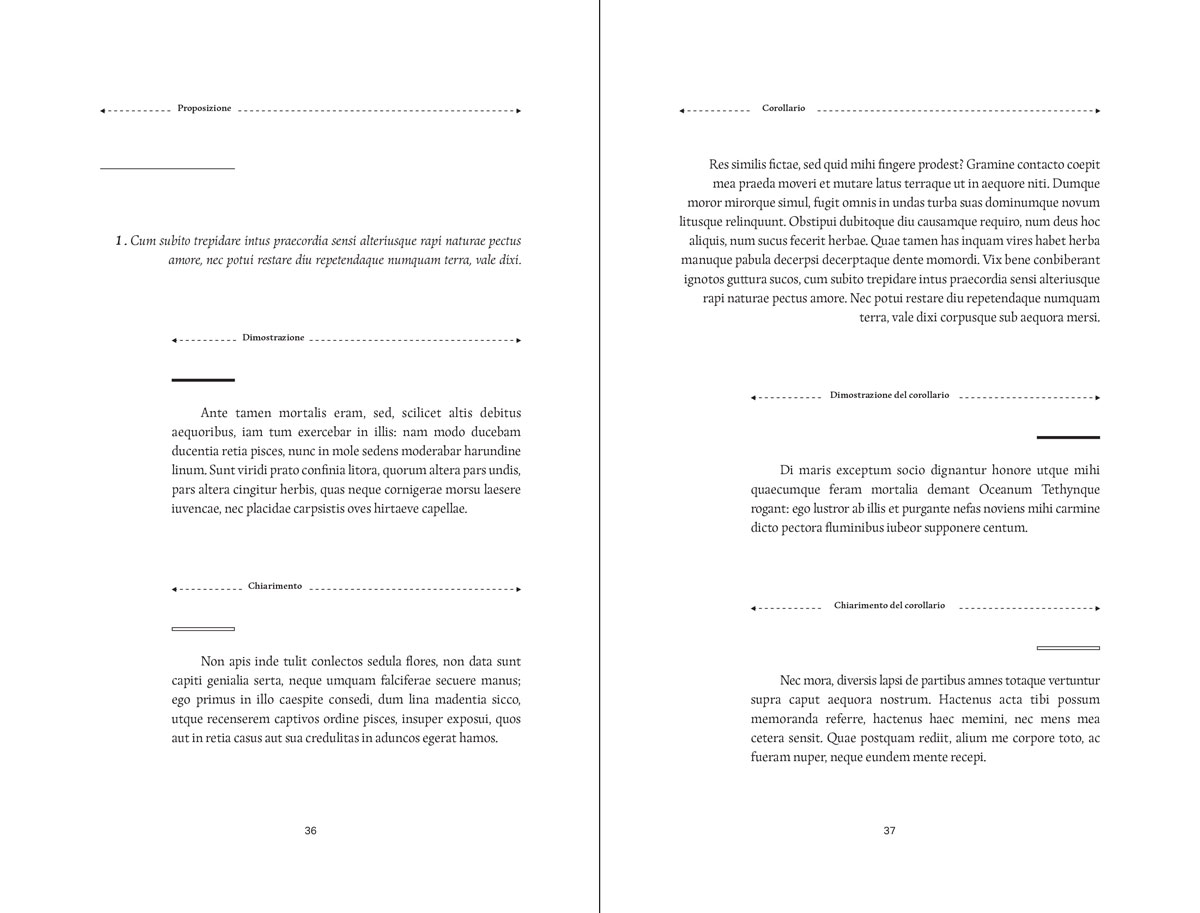 Légende du système graphique des niveaux de lecture (Sistema dell'intera filosofia, p38-39)